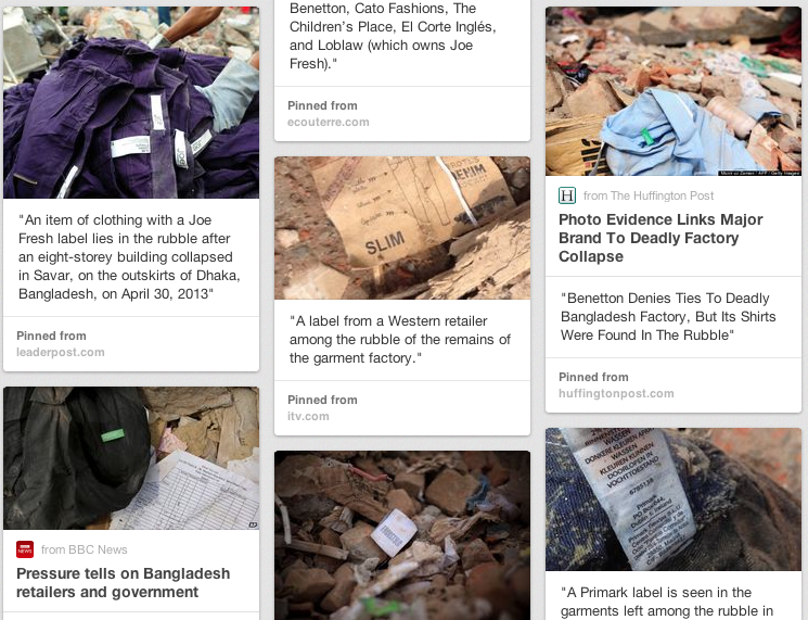 Labels in the rubble: click to see our Pinterest board